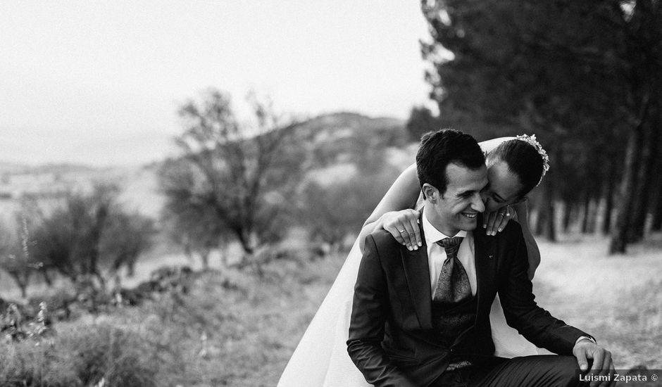 La boda de Ángel y Elena en Los Santos De Maimona, Badajoz
