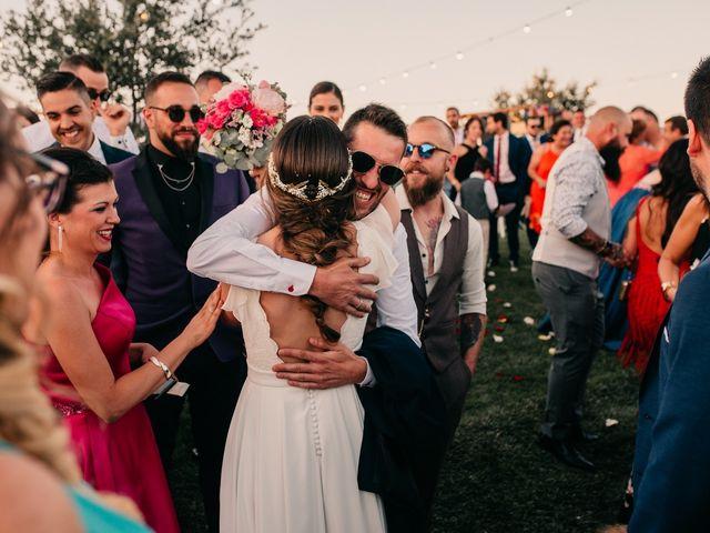 La boda de Toni y María en Caracuel De Calatrava, Ciudad Real 87