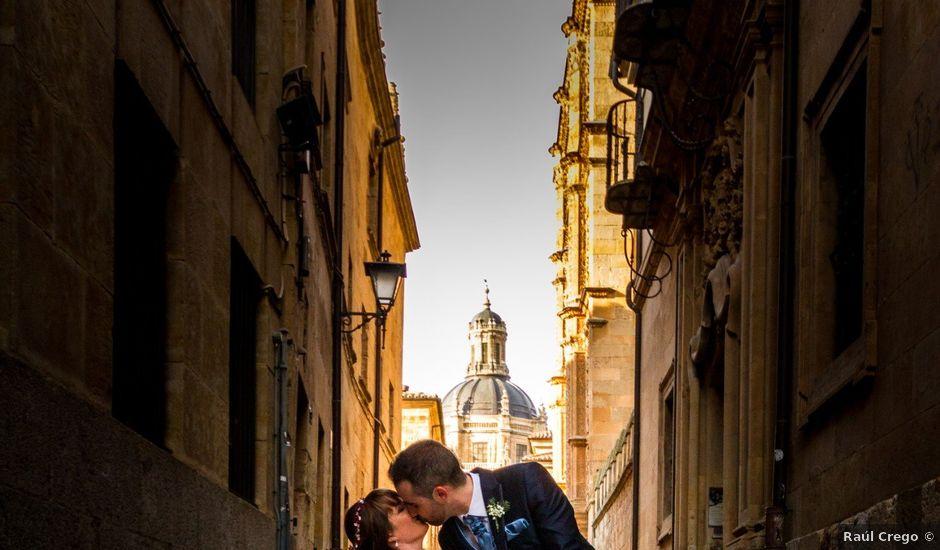 La boda de David y Laura en Topas, Salamanca