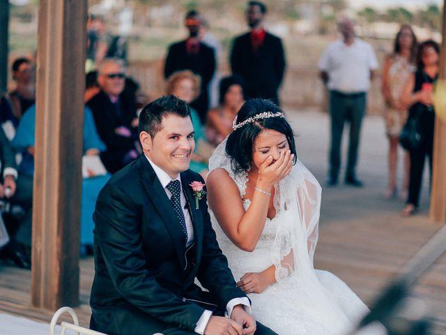 La boda de Javier y Davinia en Retamar, Almería 79