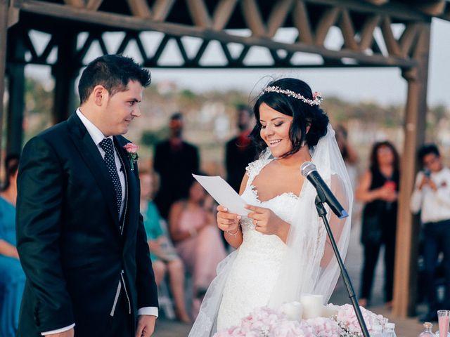 La boda de Javier y Davinia en Retamar, Almería 81