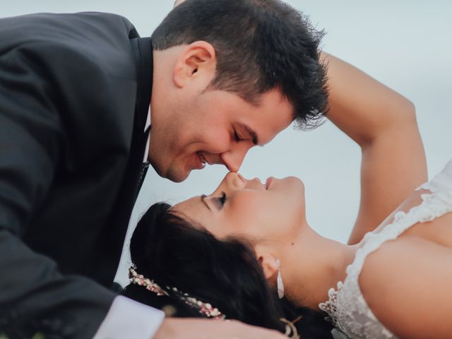 La boda de Javier y Davinia en Retamar, Almería 153