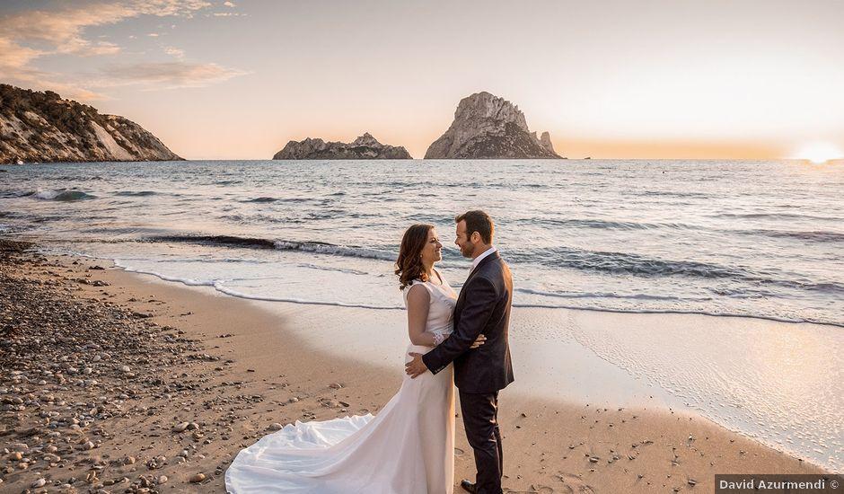La boda de Carlus y Virginia en Santa Gertrudis De Fruitera, Islas Baleares