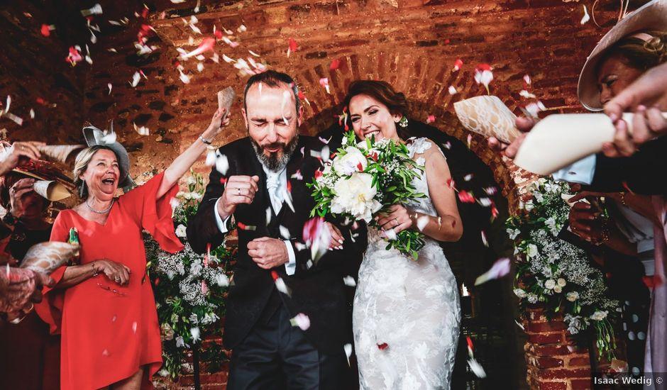 La boda de Raúl y Mabel en Almonaster La Real, Huelva