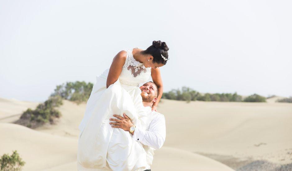 La boda de Jorge y Raquel en Telde, Las Palmas