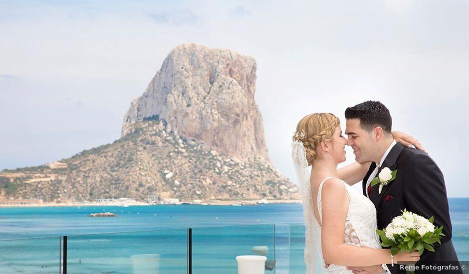 La boda de Vicente y Miriam en Calp/calpe, Alicante