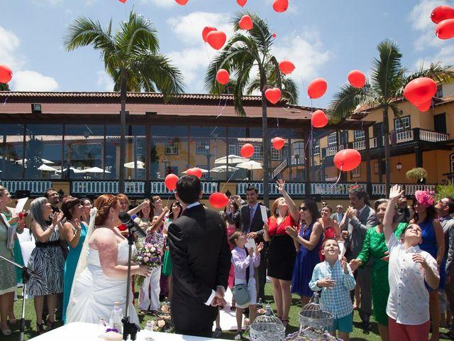 La boda de Alejandro y Merchy en La Orotava, Santa Cruz de Tenerife 26