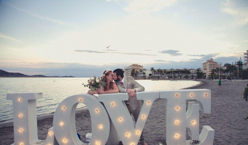 La boda de Carlos y Marimar en La Manga Del Mar Menor, Murcia