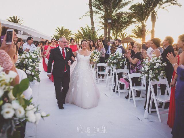 La boda de Christian  y Silvia en La Manga Del Mar Menor, Murcia 1