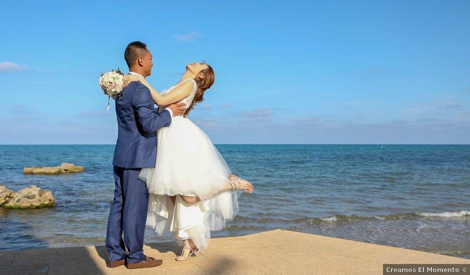 La boda de Ben y Inés en La Mata, Alicante