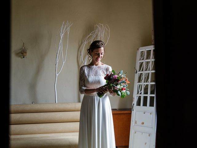 La boda de Santi y Aina en Sant Cugat Sesgarrigues, Barcelona 2
