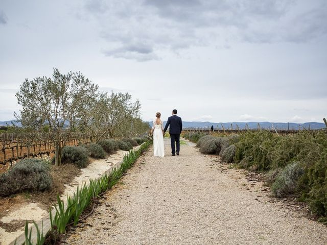 La boda de Santi y Aina en Sant Cugat Sesgarrigues, Barcelona 12