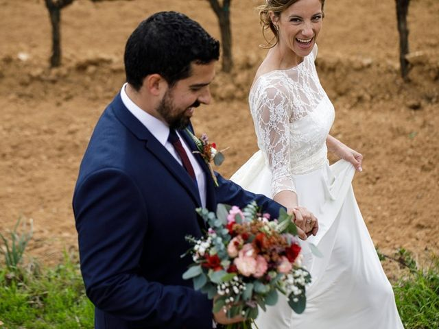 La boda de Santi y Aina en Sant Cugat Sesgarrigues, Barcelona 22