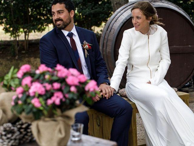 La boda de Santi y Aina en Sant Cugat Sesgarrigues, Barcelona 43