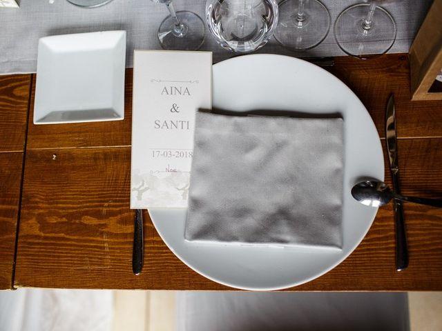 La boda de Santi y Aina en Sant Cugat Sesgarrigues, Barcelona 48