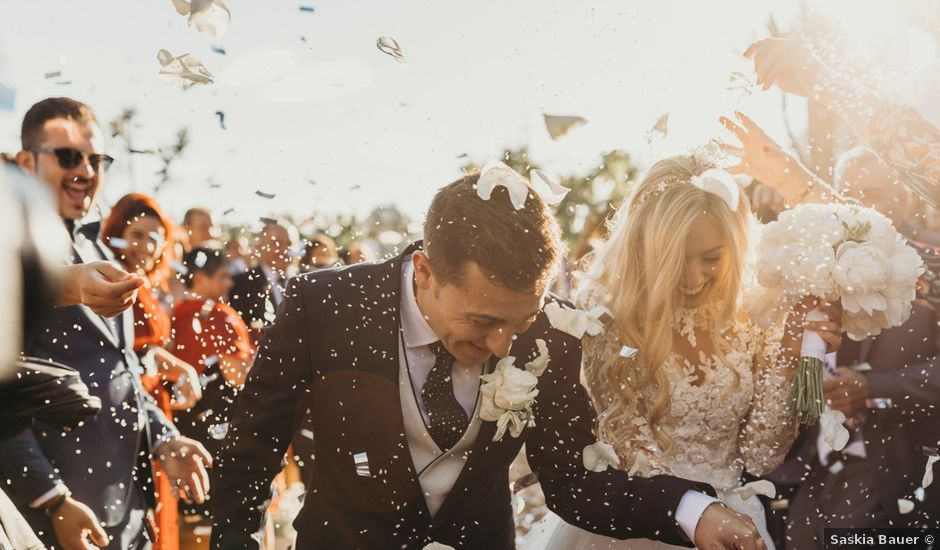 La boda de Dani y Andrada en Santa Eularia Des Riu, Islas Baleares