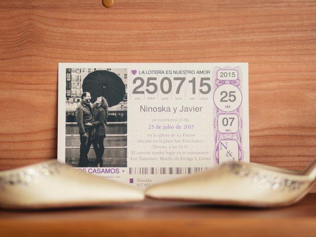 La boda de Javier y Ninoska en Getxo, Vizcaya 7