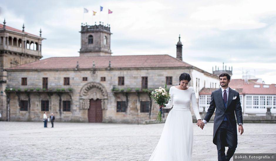 La boda de Adrián y Clara en Santiago De Compostela, A Coruña
