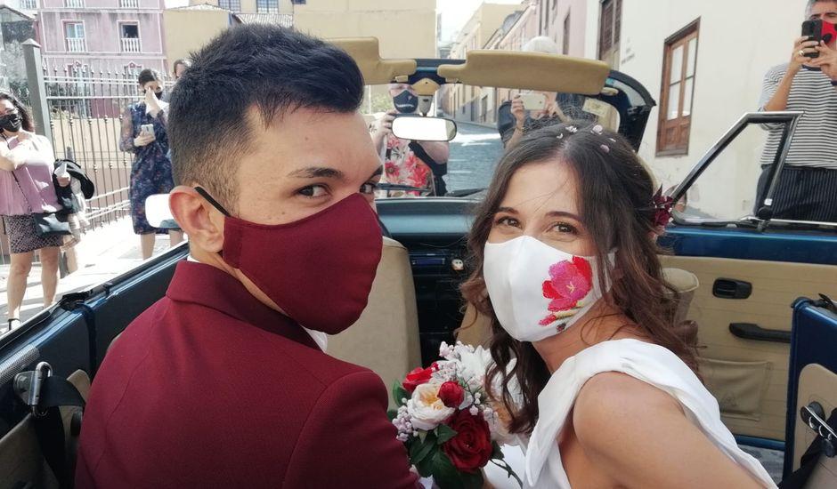 La boda de Cristo y Raquel en La Orotava, Santa Cruz de Tenerife