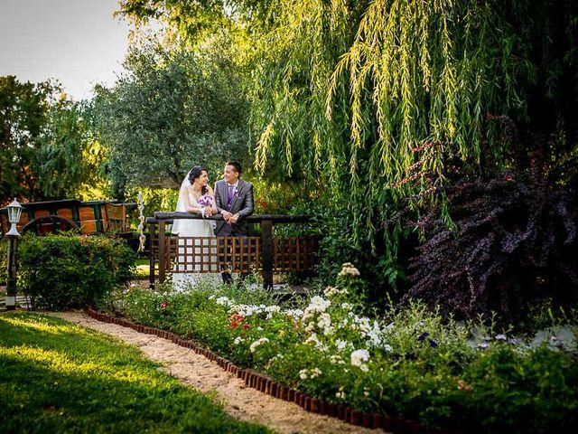 Boda de diana victor de los jardines del alberche for Jardin oriental aldea del fresno