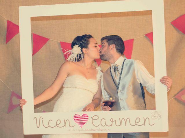 La boda de Vincen y Carmen en Castelló/castellón De La Plana, Castellón 65