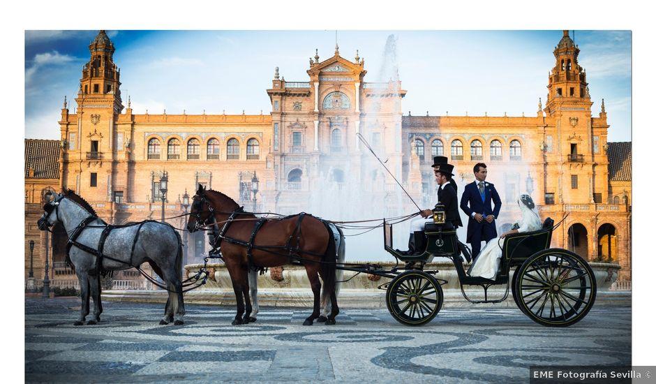 La boda de Jonathan y Victoria en Tomares, Sevilla