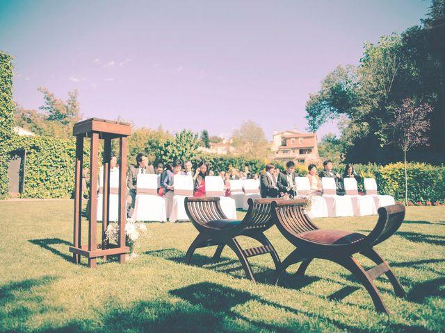 La boda de Christian y Yun en Sant Fost De Campsentelles, Barcelona 41