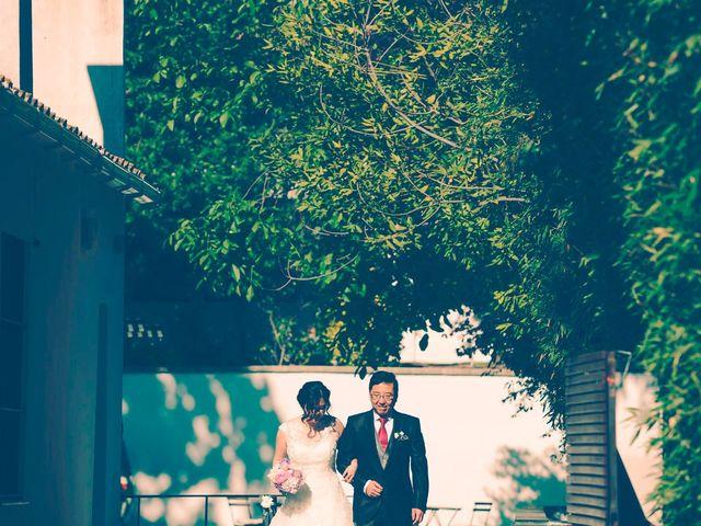 La boda de Christian y Yun en Sant Fost De Campsentelles, Barcelona 42