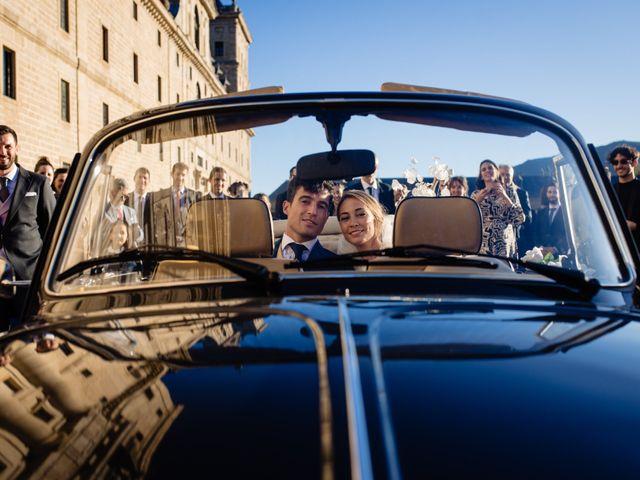 La boda de Alejandro y Belen en San Lorenzo De El Escorial, Madrid 19