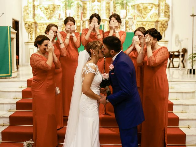 La boda de Jose María y Vanesa en Villanueva Del Fresno, Badajoz 34