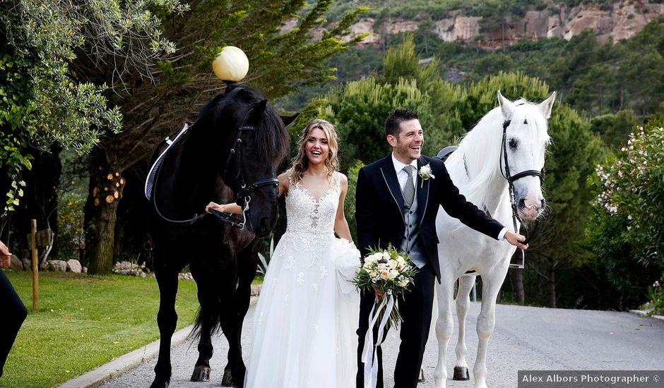 la boda de albert y sandra en monistrol de montserrat, barcelona