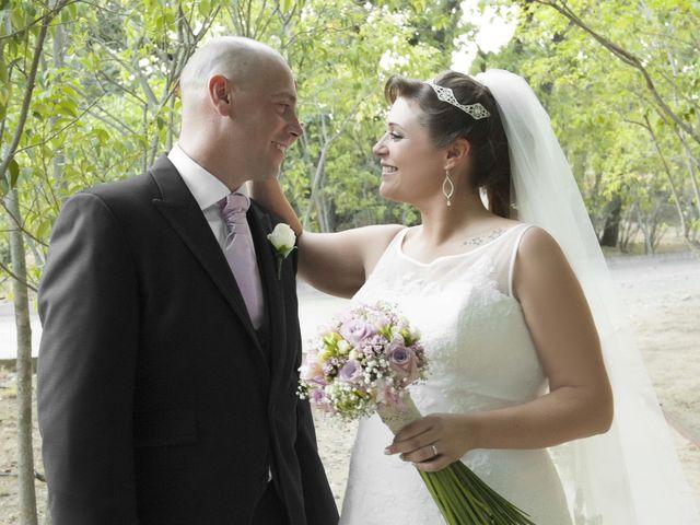 La boda de Juanjo y Aurora en El Escorial, Madrid 1