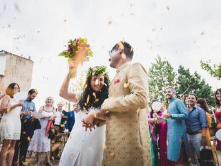 La boda de Carla y Vijey