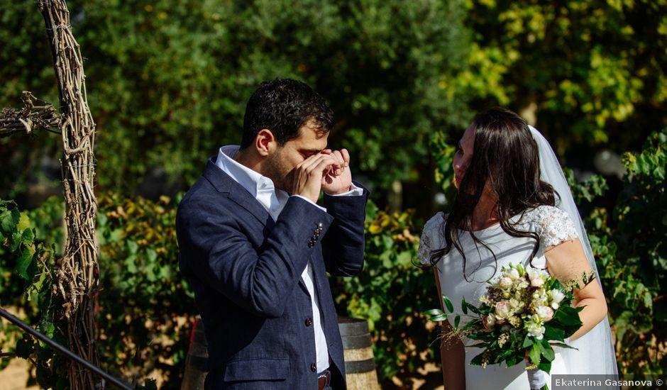 La boda de Gal y Agnes en Sant Cugat Sesgarrigues, Barcelona
