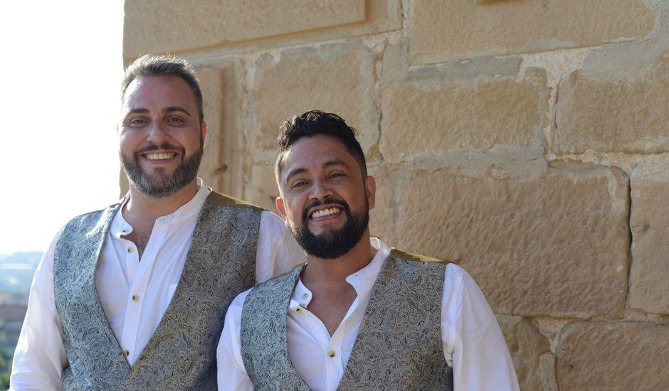 La boda de diego y ferando en Caspe, Zaragoza