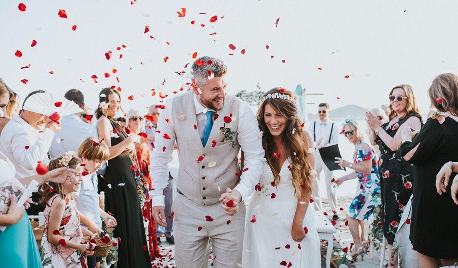 La boda de Fearghal Mckiernan y Alejandra Hernández  en La Manga Del Mar Menor, Murcia
