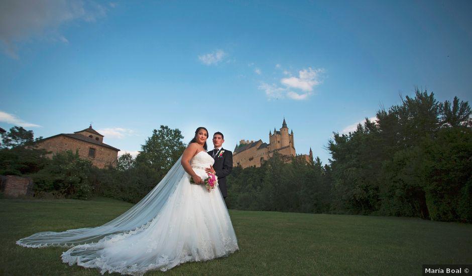 La boda de David y Rubí en San Ildefonso O La Granja, Segovia
