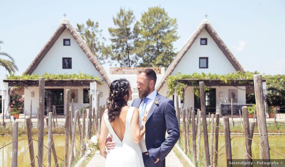 La boda de David y Almudena en El Puig, Valencia