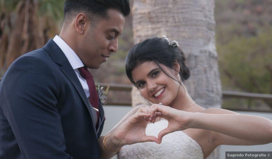 La boda de Avinash y Isabel en Maspalomas, Las Palmas