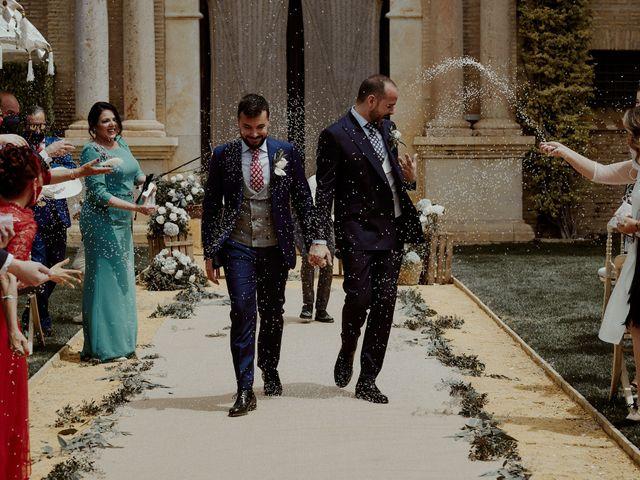 La boda de Jesús y José en Fuentes De Andalucia, Sevilla 58