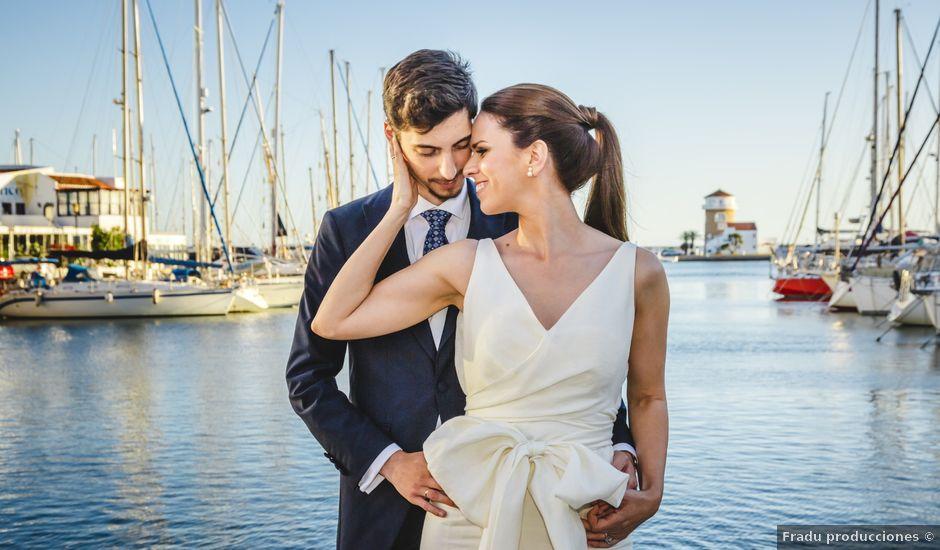 La boda de David y Elena en Almerimar, Almería