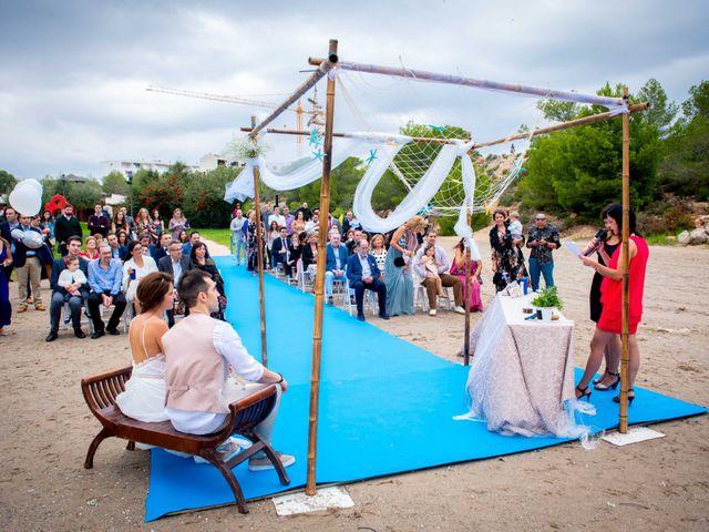 La boda de Nacho y Silvia en L' Ametlla De Mar, Tarragona 33