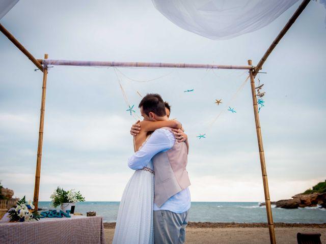 La boda de Nacho y Silvia en L' Ametlla De Mar, Tarragona 1