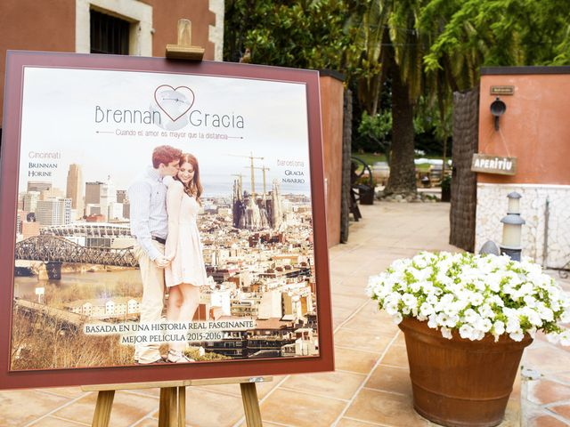 La boda de Brennan y Grace en Sant Cugat Sesgarrigues, Barcelona 3
