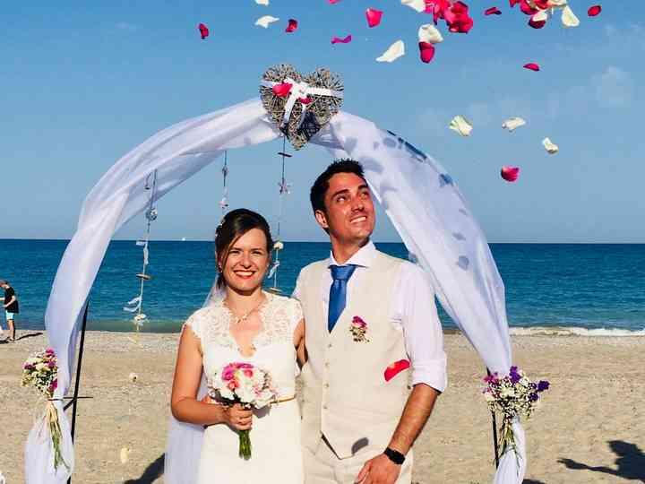 La boda de Elodie y David