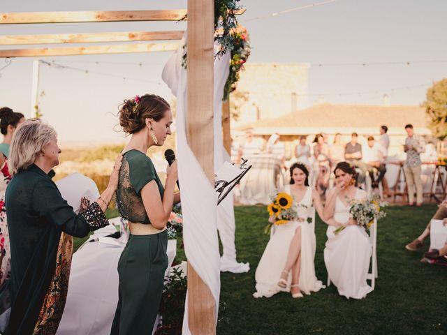 La boda de Capucine y Celia en Caracuel De Calatrava, Ciudad Real 56