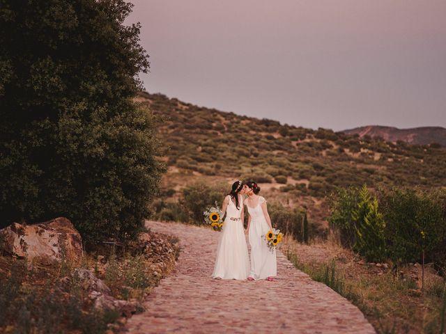 La boda de Capucine y Celia en Caracuel De Calatrava, Ciudad Real 85