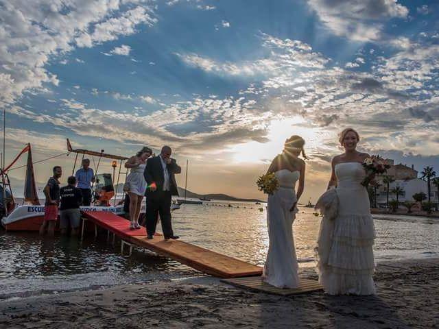 La boda de Iliana  y Maria en La Manga Del Mar Menor, Murcia 2