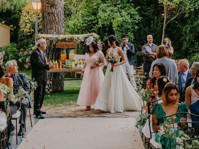 La boda de Óscar  y Massiel  en El Escorial, Madrid 23