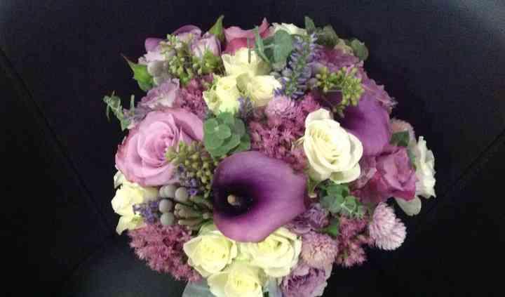 Ramo en tonos lilas